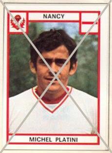 Michel Platini, Album Football 76 de Panini. Collection particulière de JC Brochard.