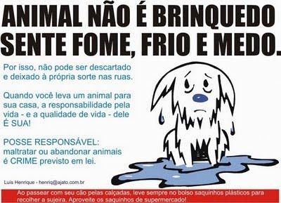 Ajude um animal!