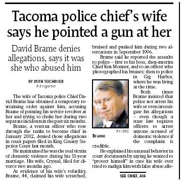 Tacoma City Manager Ray Corpuz, who hired Brame, cautioned that accusations ...
