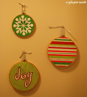 http://www.aglimpseinsideblog.com/2010/12/embroidery-hoop-ornaments-tutorial.html
