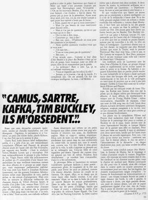 Felt dans Actuel n° 55, mai 1984. Article de Christophe Nick.