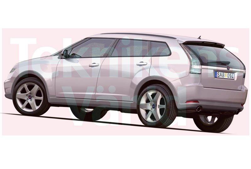 Saab 9 4X Compact SUV Renderings