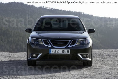 Carscoop 9 3CGI 23 Saab 9 3 Sedan & Estate: Official?