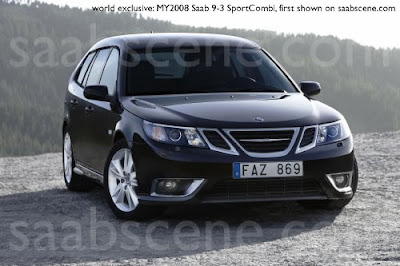 Carscoop 9 3CGI 24 Saab 9 3 Sedan & Estate: Official?