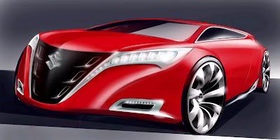 carscoop suzuk 1 Suzuki Kizashi: Frankfurt Concept Previews Mid Size Sedan