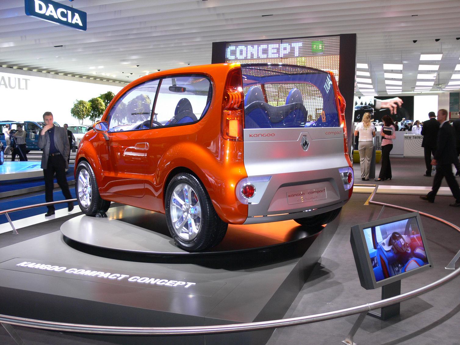 mostcar123321 frankfurt show renault kangoo compact concept. Black Bedroom Furniture Sets. Home Design Ideas