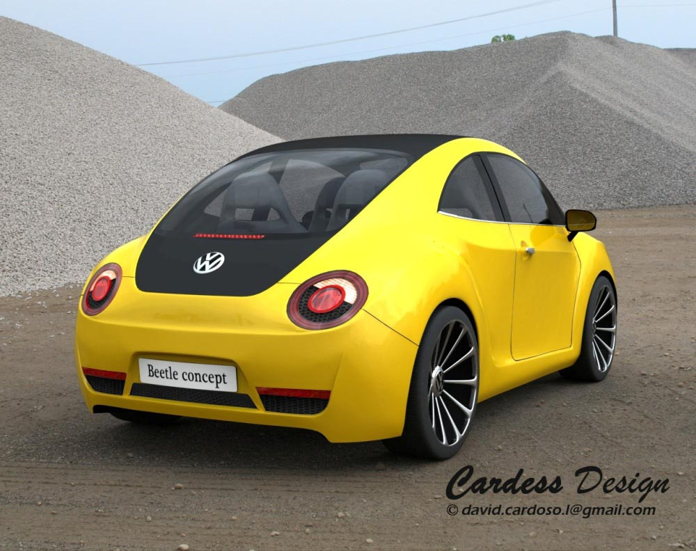 the car  design proposal for next generation vw beetle