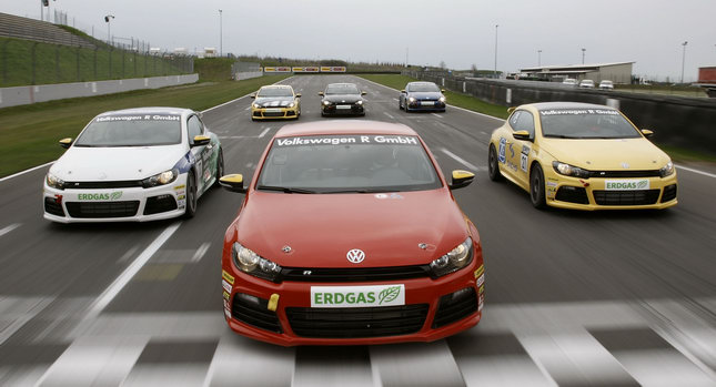 VW Scirocco R Cup 1001 Sainz, Brundle, Bell, Laffitte and Biela Return to the Race Track for Scirocco R Cup