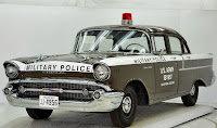 1957 Chevrolet Police Car 6 Copped out: 1957 Chevy Military Police Car for Sale