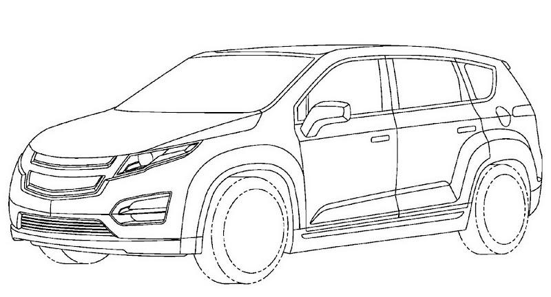 Chevrolet Volt Minivan 001 GM Readying Chevrolet Volt esque Extended Range Electric Minivan? Official Patent Designs