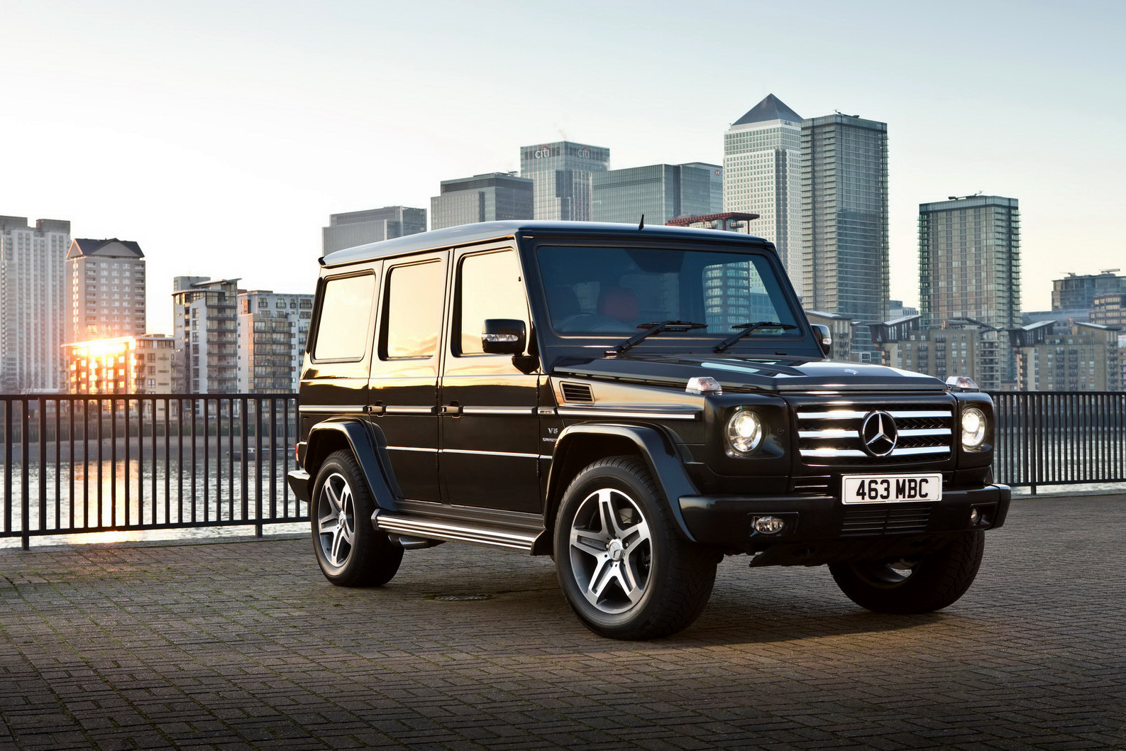 2012 Mercedes Benz G class AMG  body styling and body on frame construction