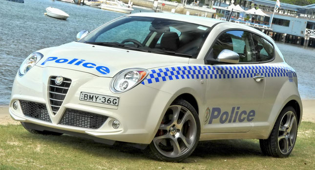 Alfa Romeo MiTo Police 0 Aussie Cops get Alfa Romeo MiTo Police Car Photos