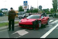 Ferrari 458 Italia Crash 1 First Recorded Crash of Ferrari 458 Italia Photos