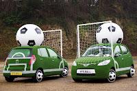 Hyundai i10 Football Cars 1 Hyundai Kicks Off Countdown to 2010 World Cup with i10 Football Themed Cars Photos