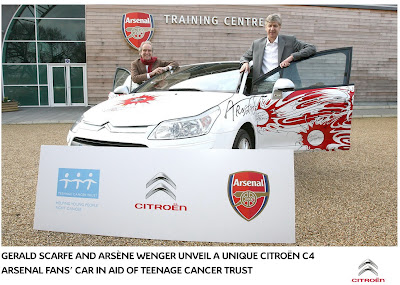 Citroen C4 Arsenal 2 Citroen creates One Off C4 dedicated to Arsenal Soccer Team Photos