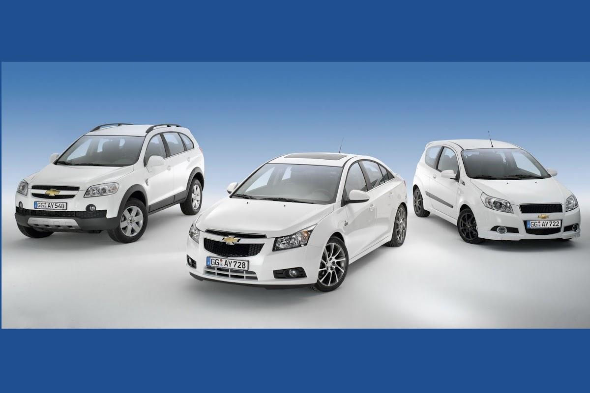 Chevrolet europe presents special edition cruze irmscher aveo sport and captiva family