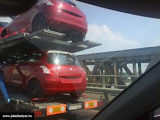 2011 Suzuki Swift 1 2011 Suzuki Swift Spied Uncovered on Car Hauler Photos