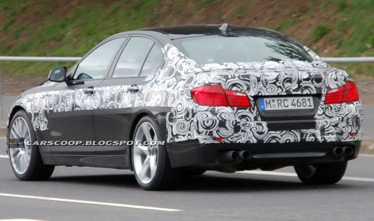 Spied 2011 Bmw M5 Super Saloon Sheds More Camouflage
