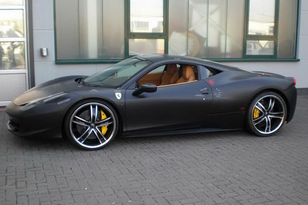 Ferrari 458 italia themed after f 117 nighthawk stealth jet fighter