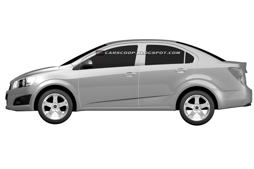 2012 Chevrolet Aveo Sedan And Hatchback Official Design Patents