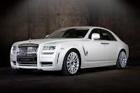 Mansory RR Ghost White 1 New Mansory Rolls Royce Ghost Skips on the Gold Flakes