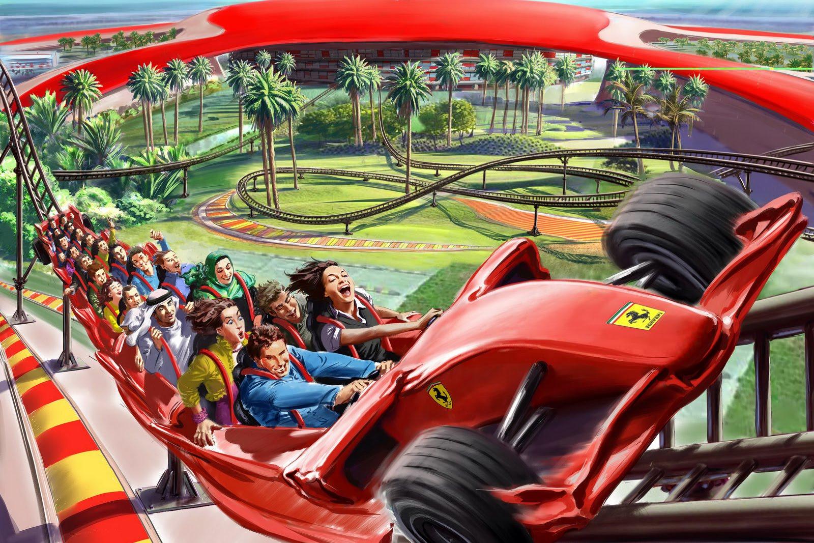 Abu Dhabi Ferrari World Roller Coaster 2015 Best Auto