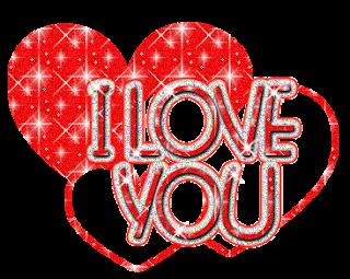 i love you heart glitter - photo #14