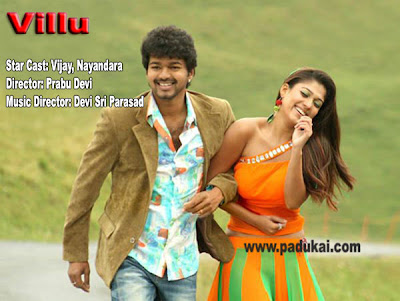 Popular Movie of 2009 Villu Stars Vijay and Nayanthar pics
