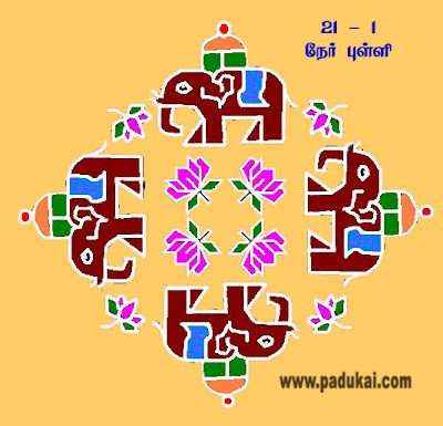 Elephant Kolam and Elephant Rangoli Designs