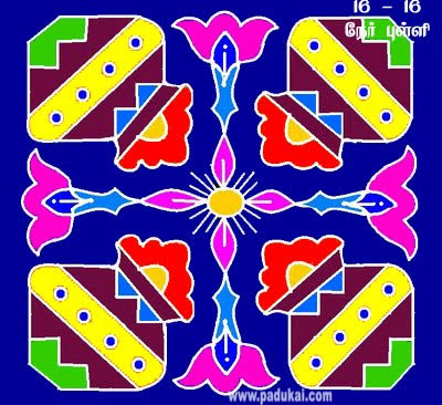 Colourful Pongal Paanai Kolams and Pongal Pat Rangoli Patterns