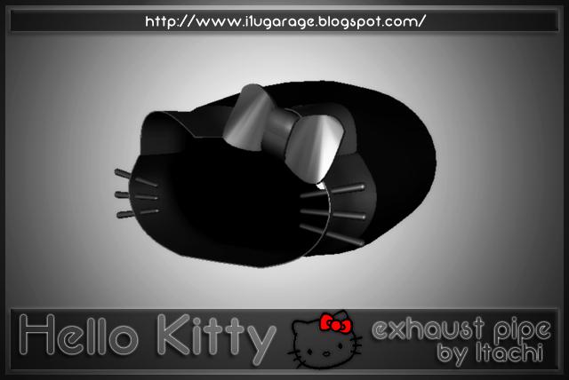 I1u garage hello kitty exhaust pipe hq 3dsmax zmodeler