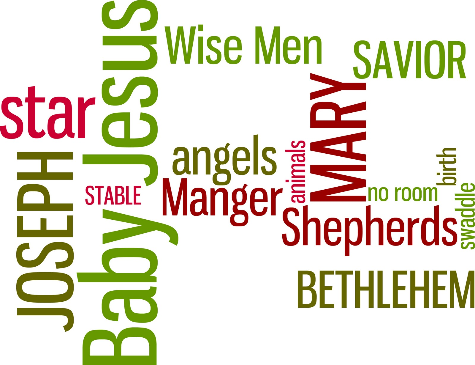 Click here to download the Nativity Word Art PDF and leave me a ...