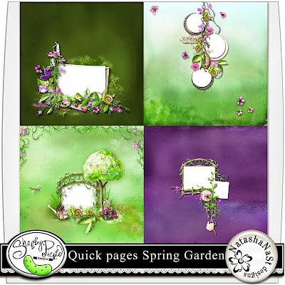 Quick pages spring garden and freebie natashanast designs for Quick garden design ideas