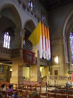 flags in cathedral