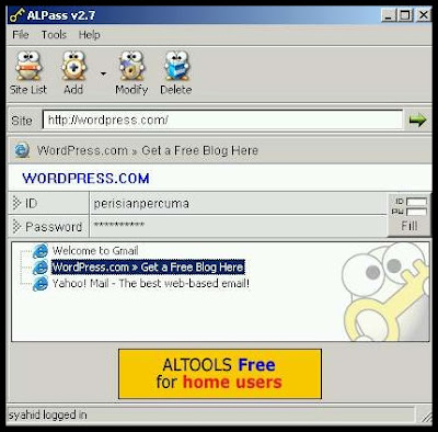 AlPass is a free password manager for Internet Explorer, or in layman's term ...