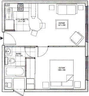 Planos de casas y departamentos proyectos de for Planos de departamentos de 40m2