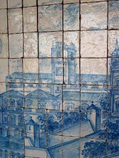 Representação do Relógio do Paço (Museu do Azulejo), Lisboa