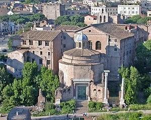 Monumenti del foro romano il tempio del divo romolo - Howard divo del passato ...