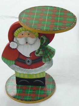 Papai Noel porta-bolo pintado a mão