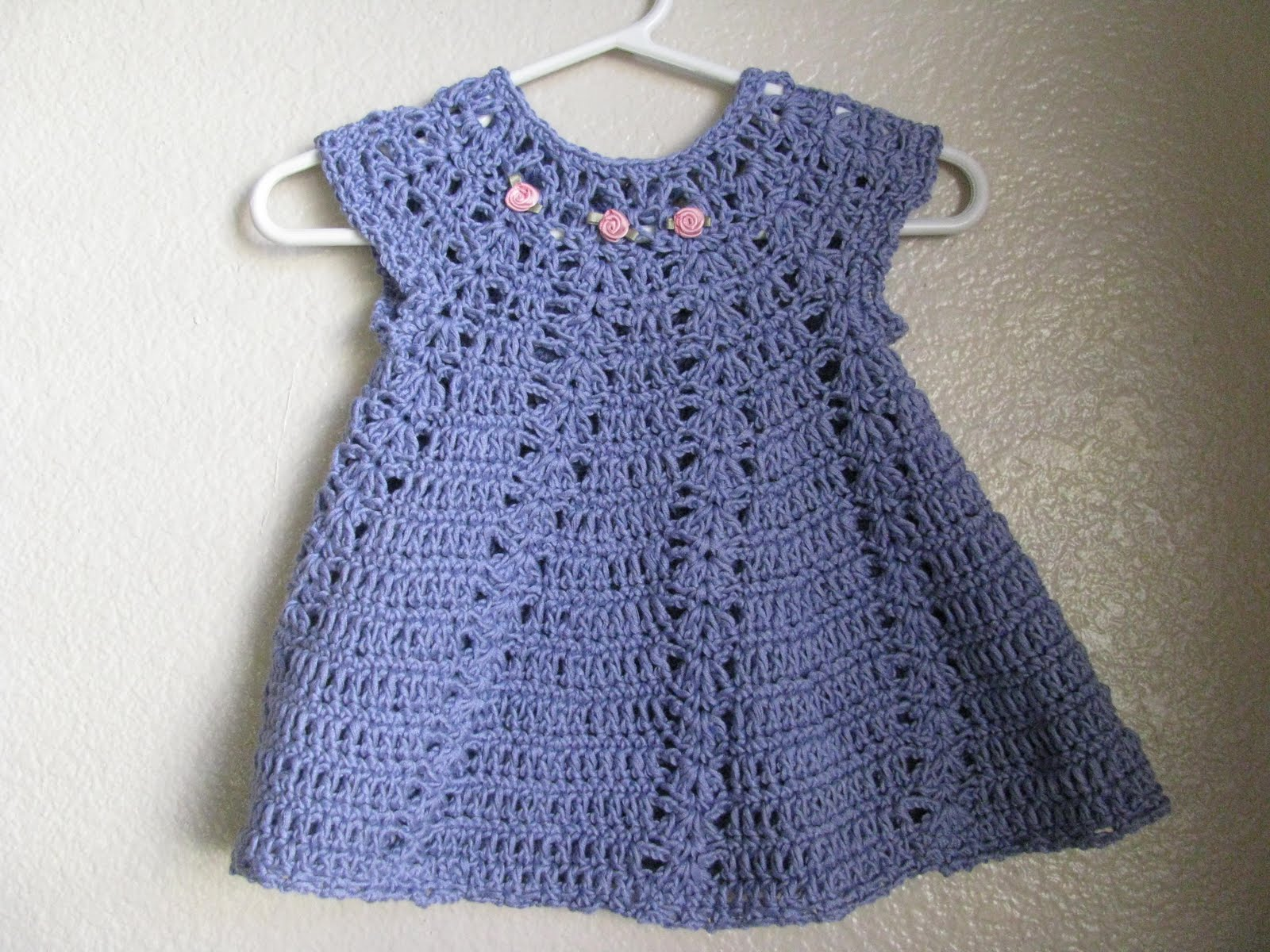 Crochet Baby Pattern Cardigan : My latest project: My first crocheted baby dress finished!