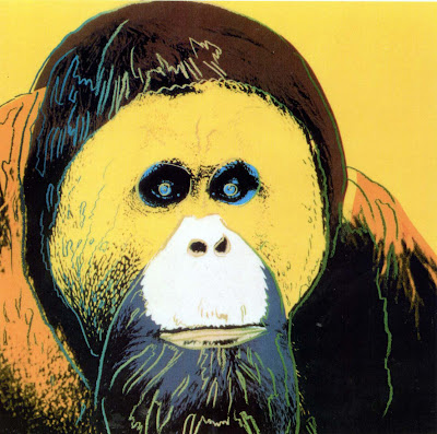 endangered species orangutan by andy warhol