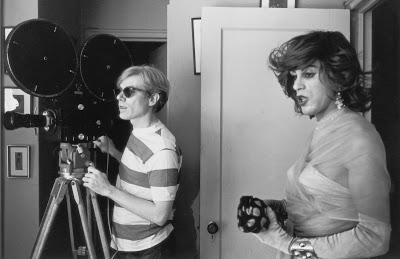 andy warhol filming a movie