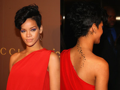 Rihanna has explained that her new tattoo is tribal.