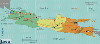 Java Map - Indonesia Java International Destination