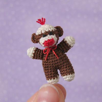 Knitting Brioche Stitch Socks 14 Easy Patterns For Tube Socks : MUFFA - Miniatures: New Pattern: Baby Sock Monkey