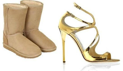 Ugg y Jimmy Choo