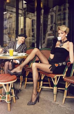 Anja Rubik fotografíada Inez & Vinoodh ( Vogue París)...