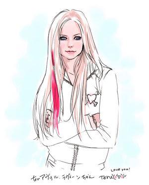 Avril Lavinge: Kreslené obrazky Avril Avril Lavigne