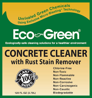 eco green concrete cleaner with rust stain remover