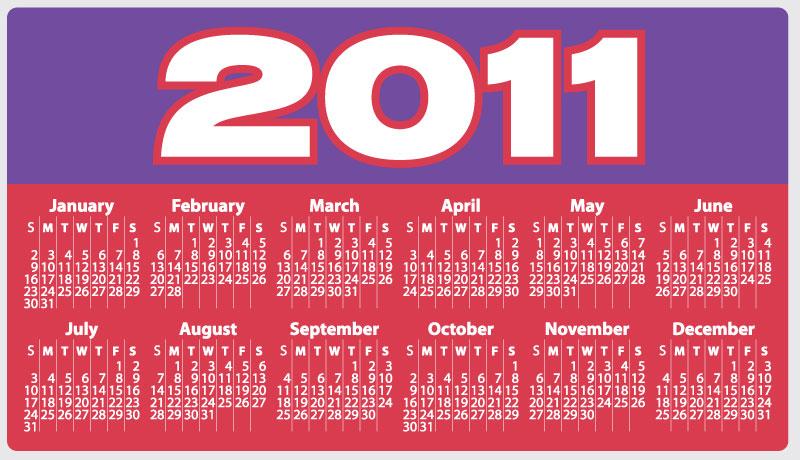 2011 holidays calendar canada